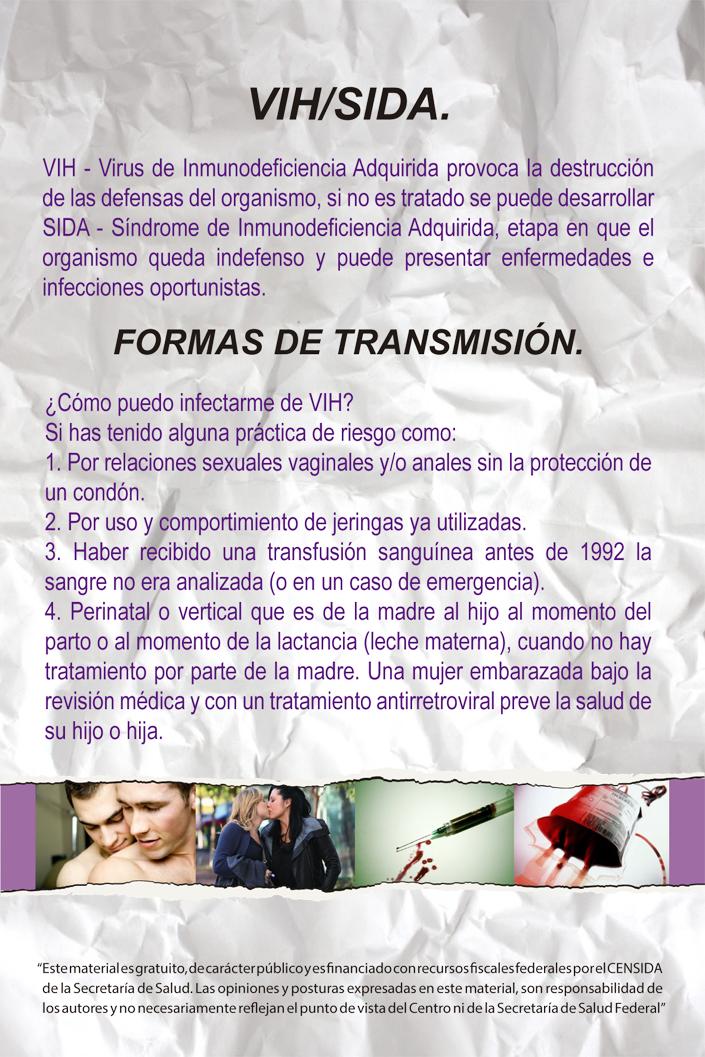 formas de transmision del VIH2