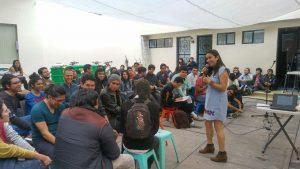 Plática sobre prevención del embarazo adolescente, el VIH y las ITS en la Escuela de Música en el Estado de Hidalgo
