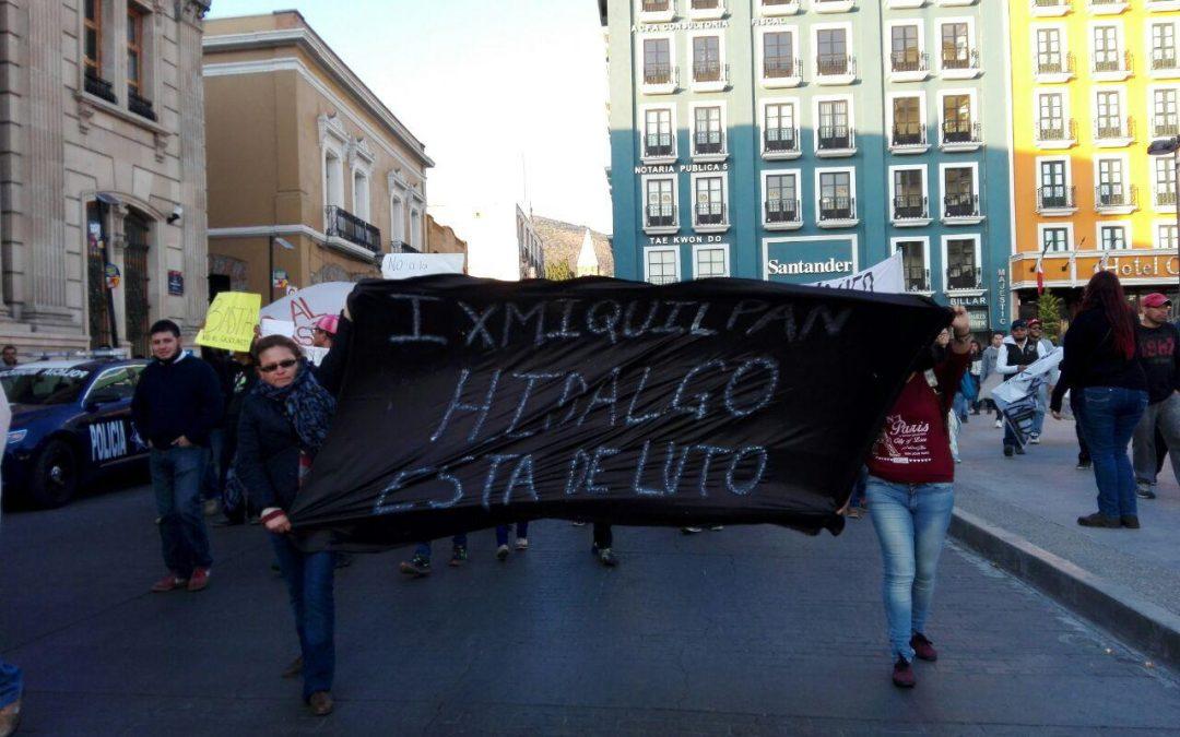 Pronunciamiento por Represión en Ixmiquilpan,Hidalgo.