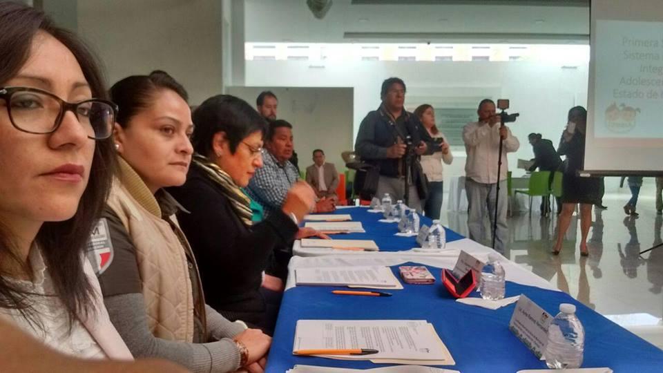 """Reunión extraordinaria del """"Sistema municipal de Protección Integral de los Derechos de Niñas, Niños y Adolescentes"""" de Pachuca."""