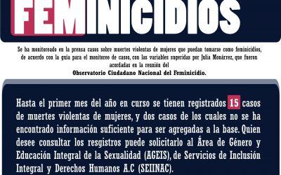 MONITOREO DE FEMINICIDIOS
