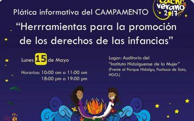 """Plática informativa sobre el campamento """"Herramientas para los Derechos de las Infancias"""""""