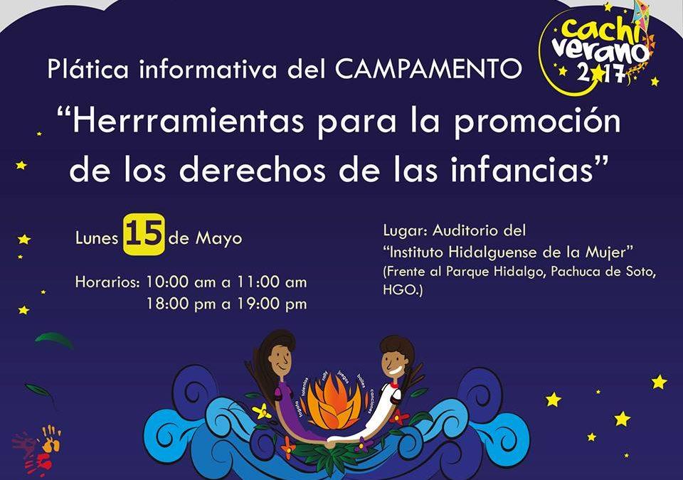 Plática informativa sobre el campamento «Herramientas para los Derechos de las Infancias»