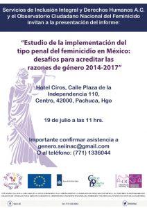 Informa Feminicidio Hidalgo
