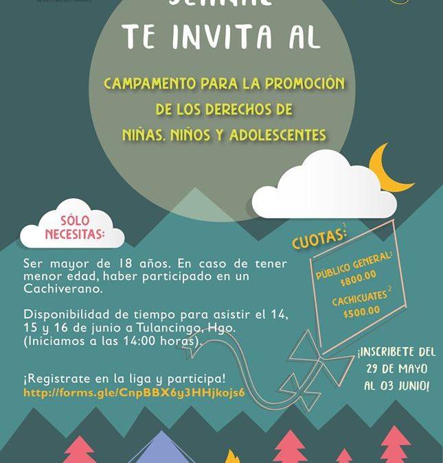 Campamento para la promoción de los derechos de niñas, niños y adolescentes 2019